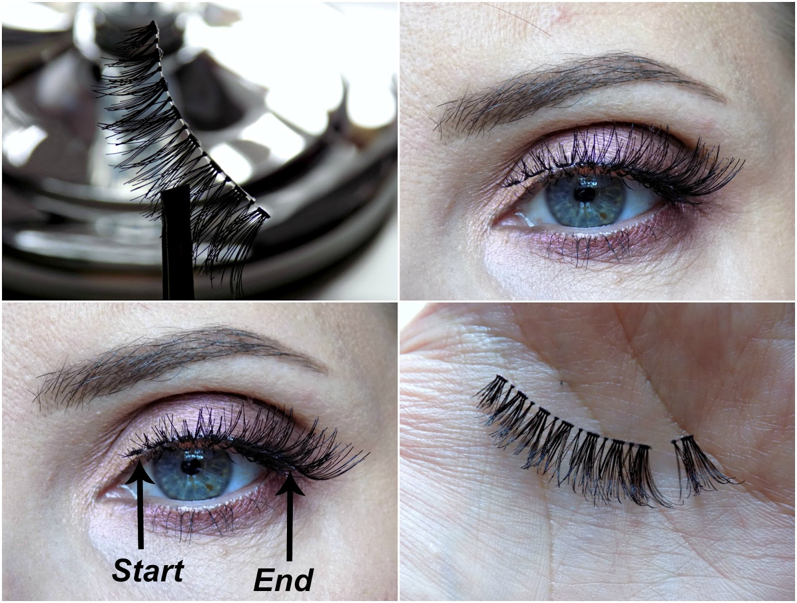 How to apply false lashes?