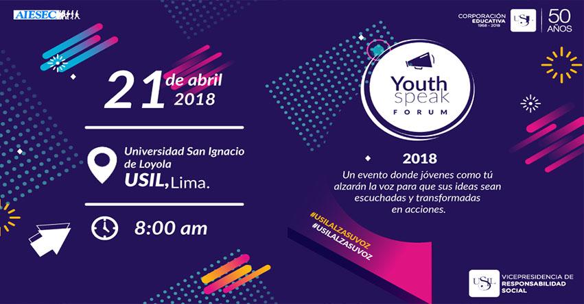 La USIL recibirá a más de 800 jóvenes de direfentes regiones del Perú para encuentro del Yotuh Speak Forum - www.usil.edu.pe