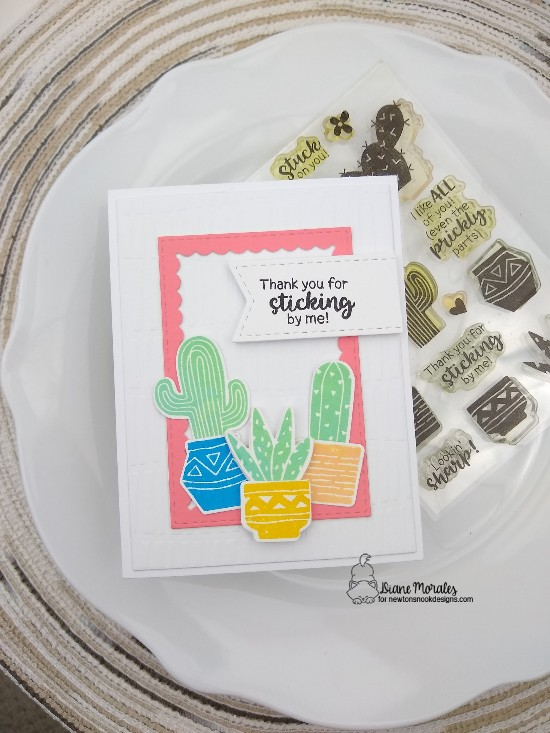Thank you for sticking by you by Diane features Framework, Serene, and Cultivated Cacti by Newton's Nook Designs; #newtonsnook