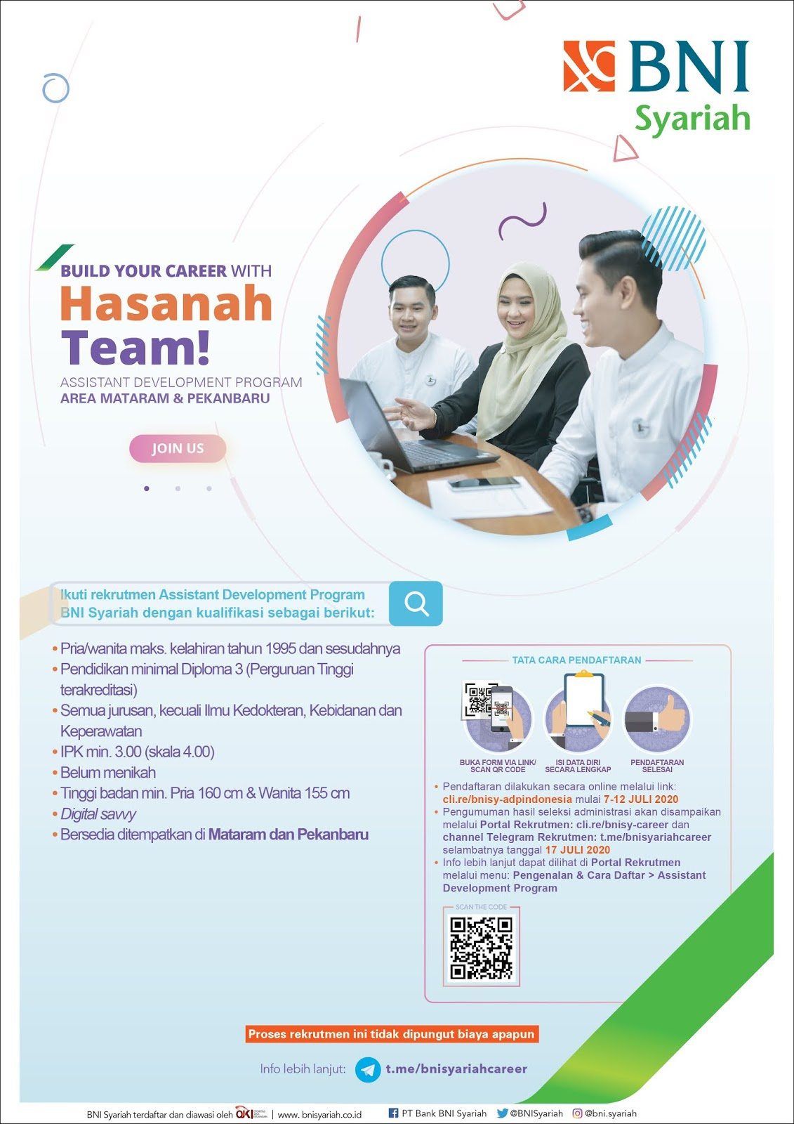 Lowongan Kerja Bank Bni Syariah D3 Semua Jurusan Juli 2020 Rekrutmen Lowongan Kerja Bulan Juni 2021
