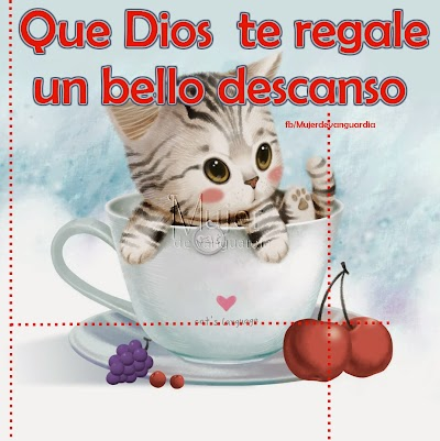 Que Dios te regale un bello descanso