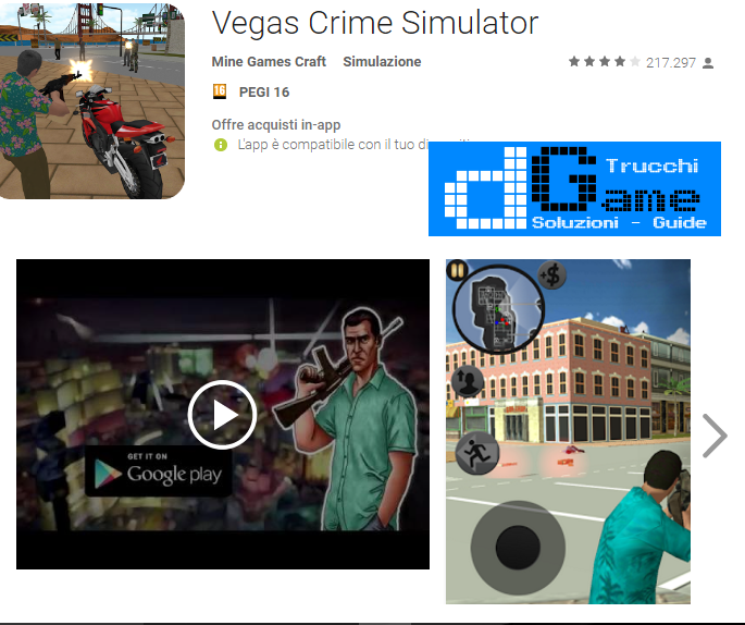 Trucchi Vegas Crime Simulator Mod Apk Android v1.2.2.3