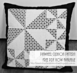 Pinwheel Cushion Pattern Free PDF