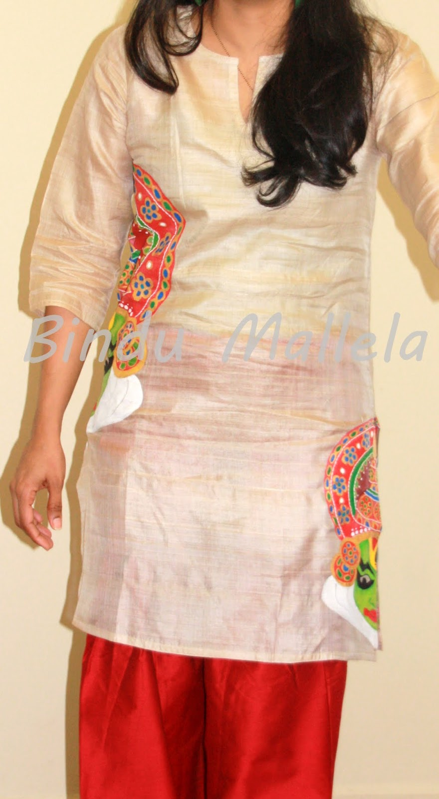 crazy for colors!: Hand Painted Kurti...