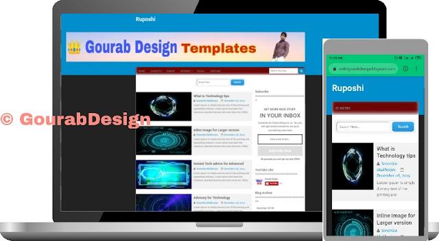 ruposhi premium blogger template