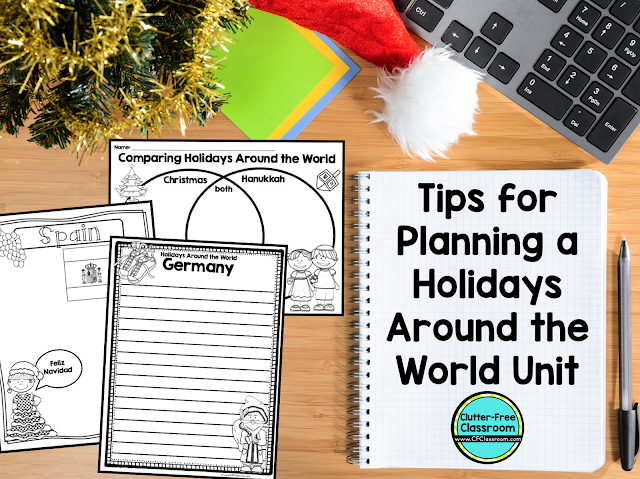Teachers often struggle to decide how to handle the winter holidays in public schools. This blog post will help you plan a Holidays Around the World Unit.