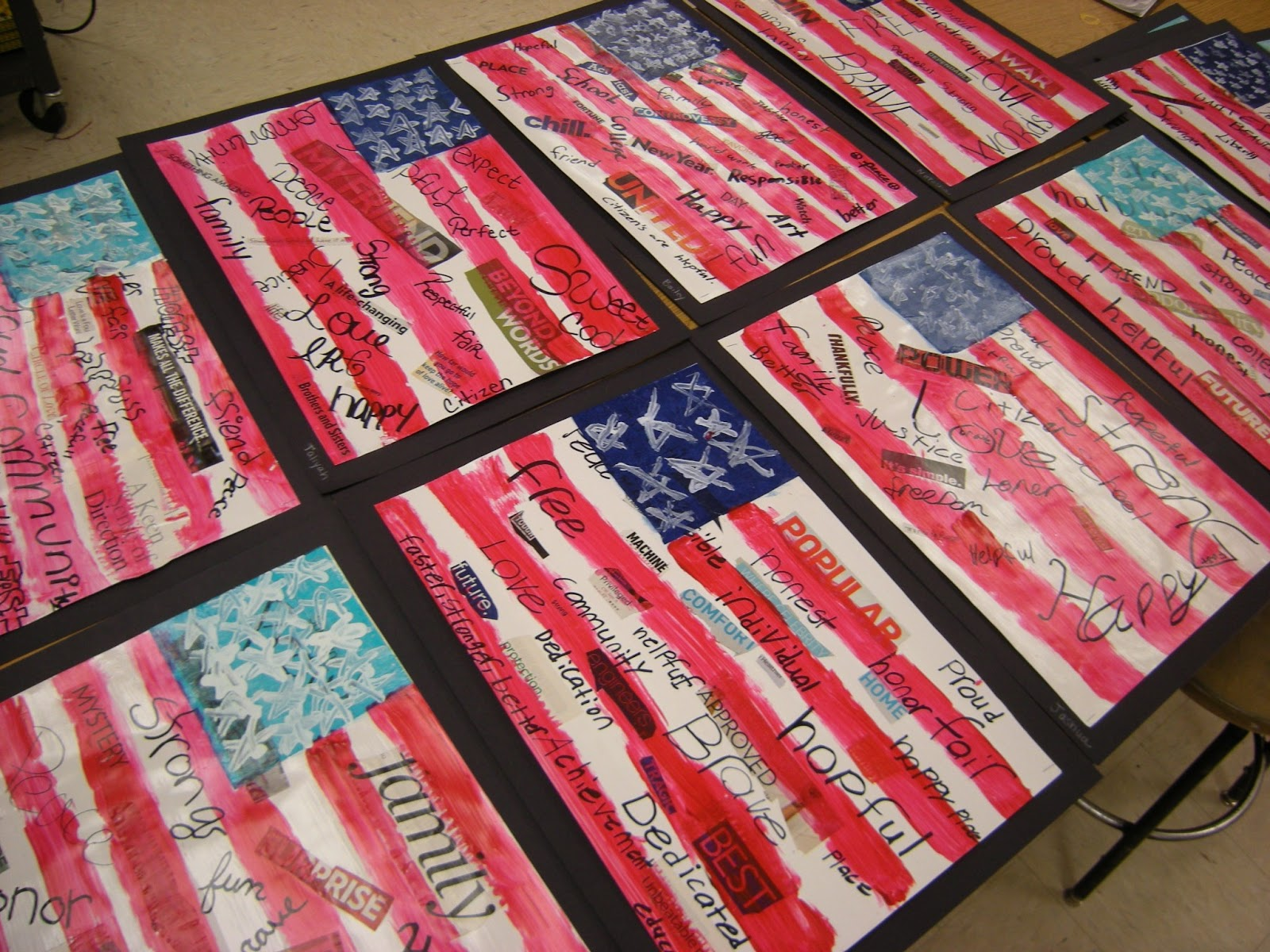 What S Happening In The Art Room 5th Grade American Flags