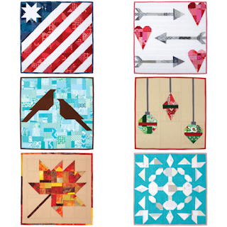 6 different seasonal quilts