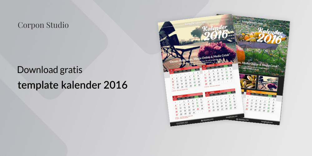 Download Template kalender 2016 Gratis
