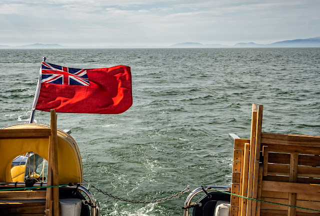Photo of sunshine and a good wind while cruising on the Solway Firth