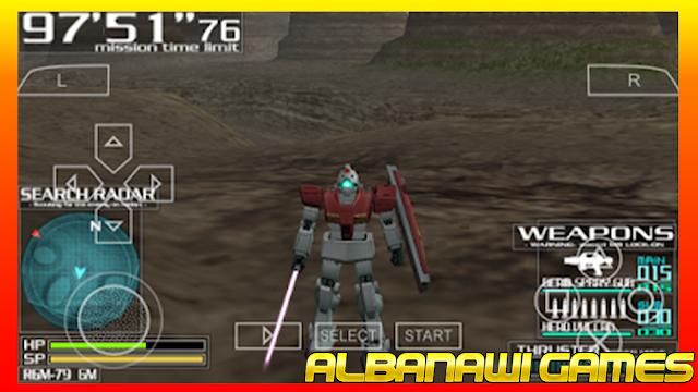 تحميل لعبة Gundam Battle Tactics لاجهزة psp ومحاكي ppssppمن الميديا فاير