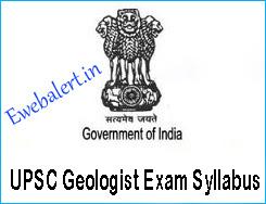 UPSC Geologist Exam Syllabus