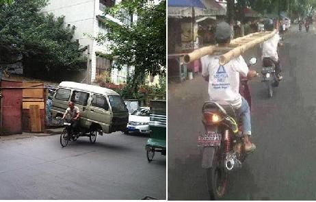 12 potret Kelakuan Nyeleneh dan langka di jalan raya yang bikin ngakak