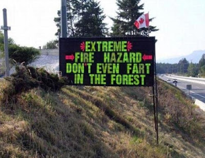 Funny Sign Fire Hazard