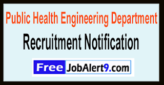 PHED Public Health Engineering Department Recruitment Notification 2017 Last Date 25-05-2017