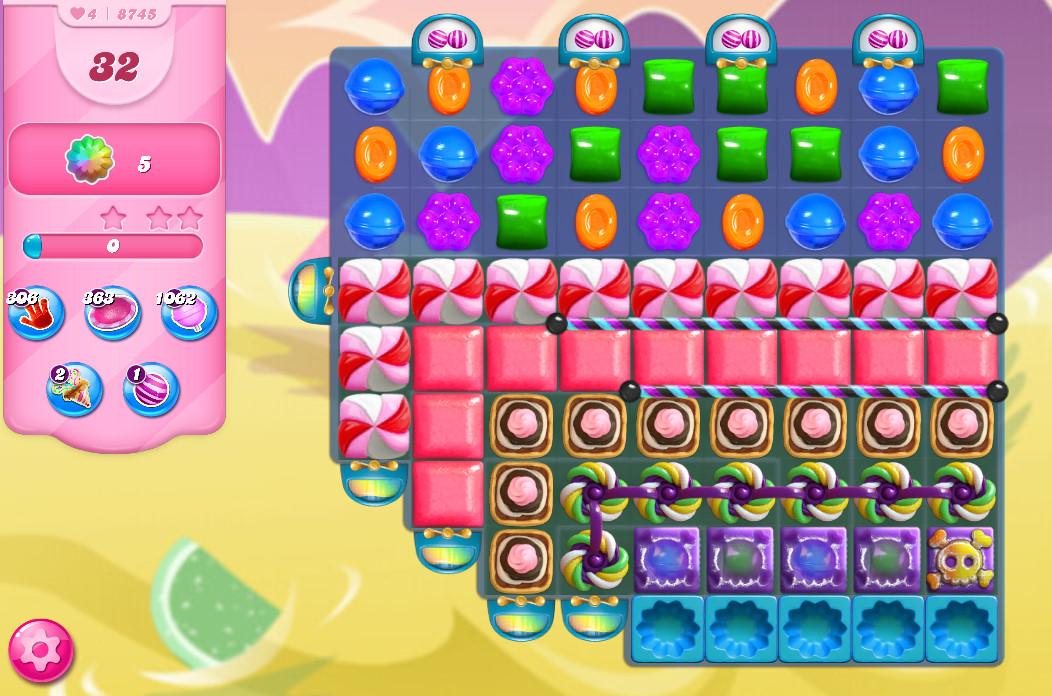 Candy Crush Saga level 8745