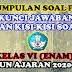 KUMPULAN SOAL PAT, KUNCI JAWABAN, DAN KISI-KISI SOAL KELAS VI TAHUN AJARAN 2020-2021
