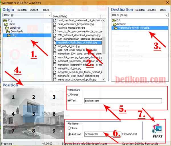 Membuat watermark pada foto dengan software gratis