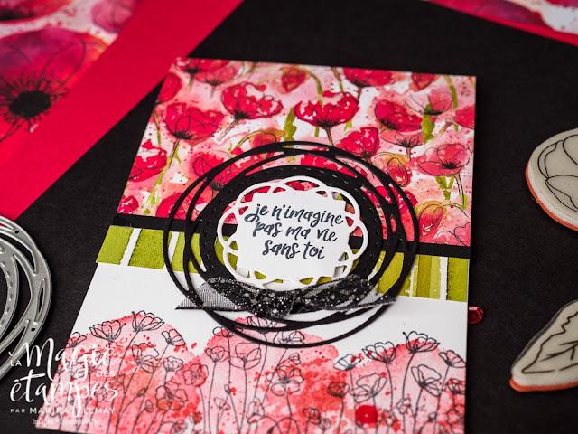 Cartes Stampin' Up! avec le jeu d'étampes Painted poppies