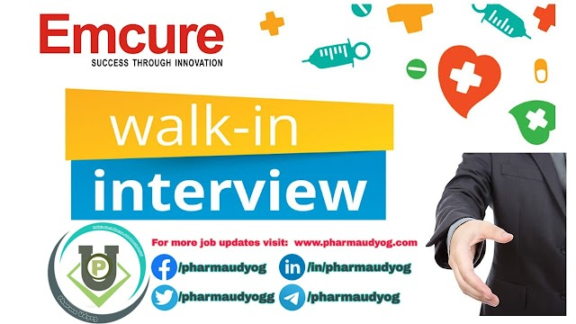 Emcure   Walk-in interview at Mumbai on 12 Oct 2019 for MR   Pharma Jobs - MR