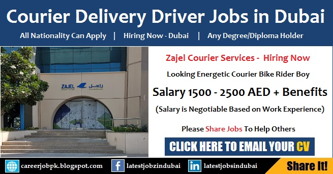Courier Delivery Driving Jobs in Dubai