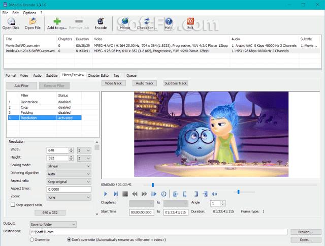 برنامج تحويل الفيديو اكس ميديا ريكورد XMedia Recode 3.4.7.1
