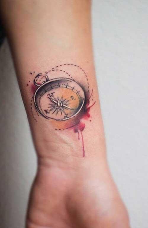 3d compass tattoo 3 boyutlu pusula dövmesi