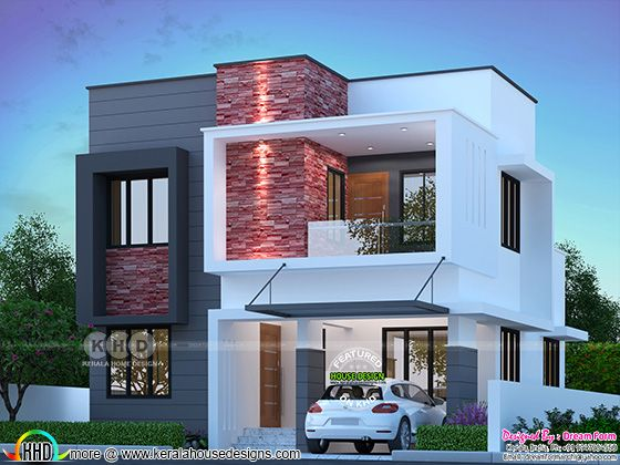 Cute modern home October 2021 house front design