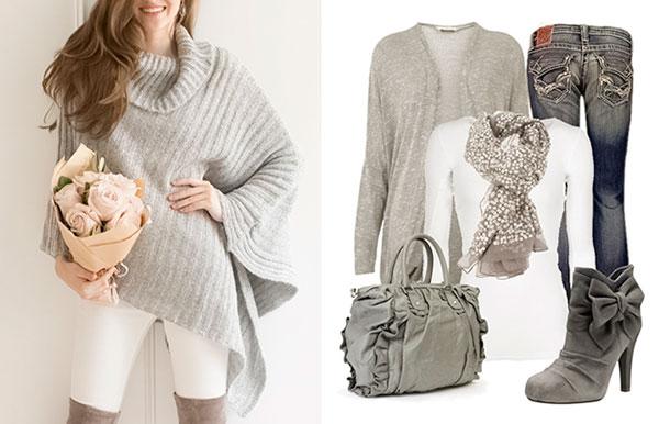 осень, гардероб, серый