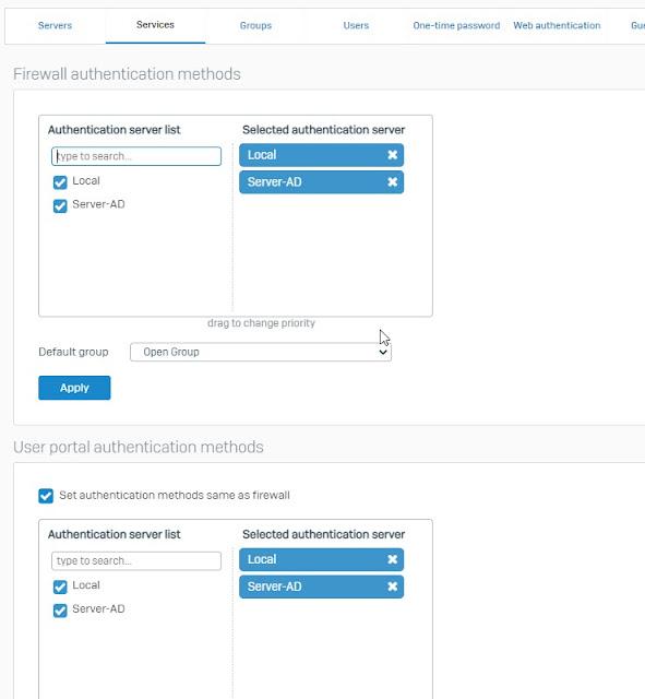 Mozunote Membuat  Login Portal Jaringan di Firewall Sophos Dengan Aktif Direktory Windows Server