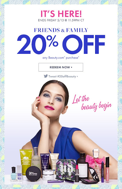Beauty.com 20% OFF Sale Friends and Family Event Coupon Code 2016