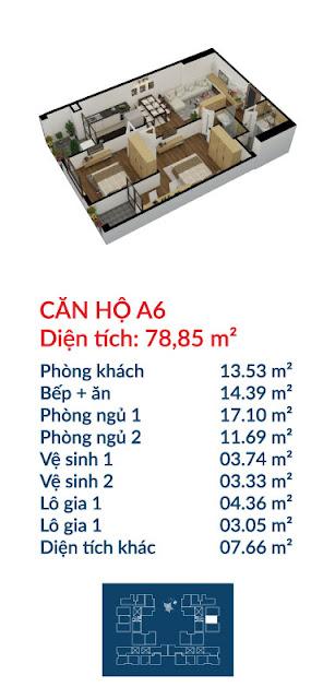 Căn hộ A6 Việt Đức Complex