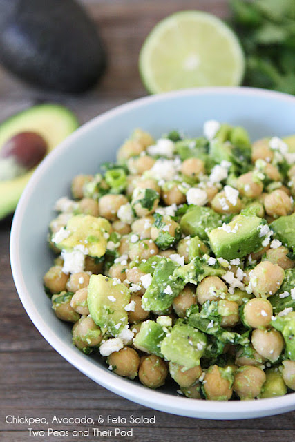 Chíckpea, Avocado & Feta Salad