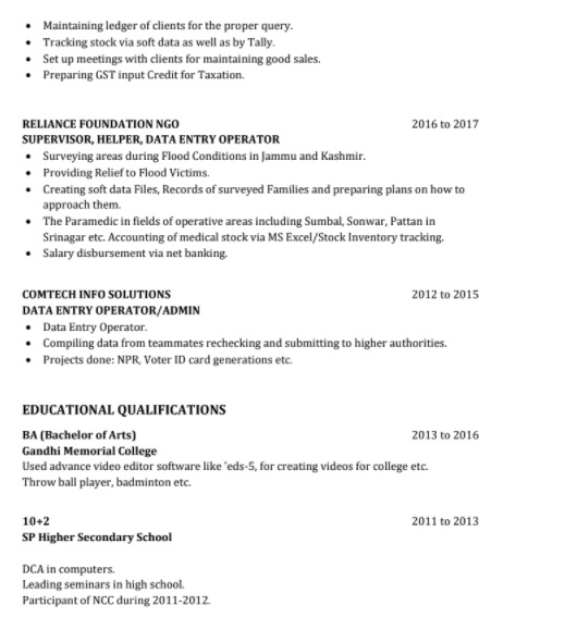 how-to-write-declaration-in-resume-for-freshers