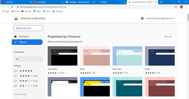 How to change Google Chrome background image