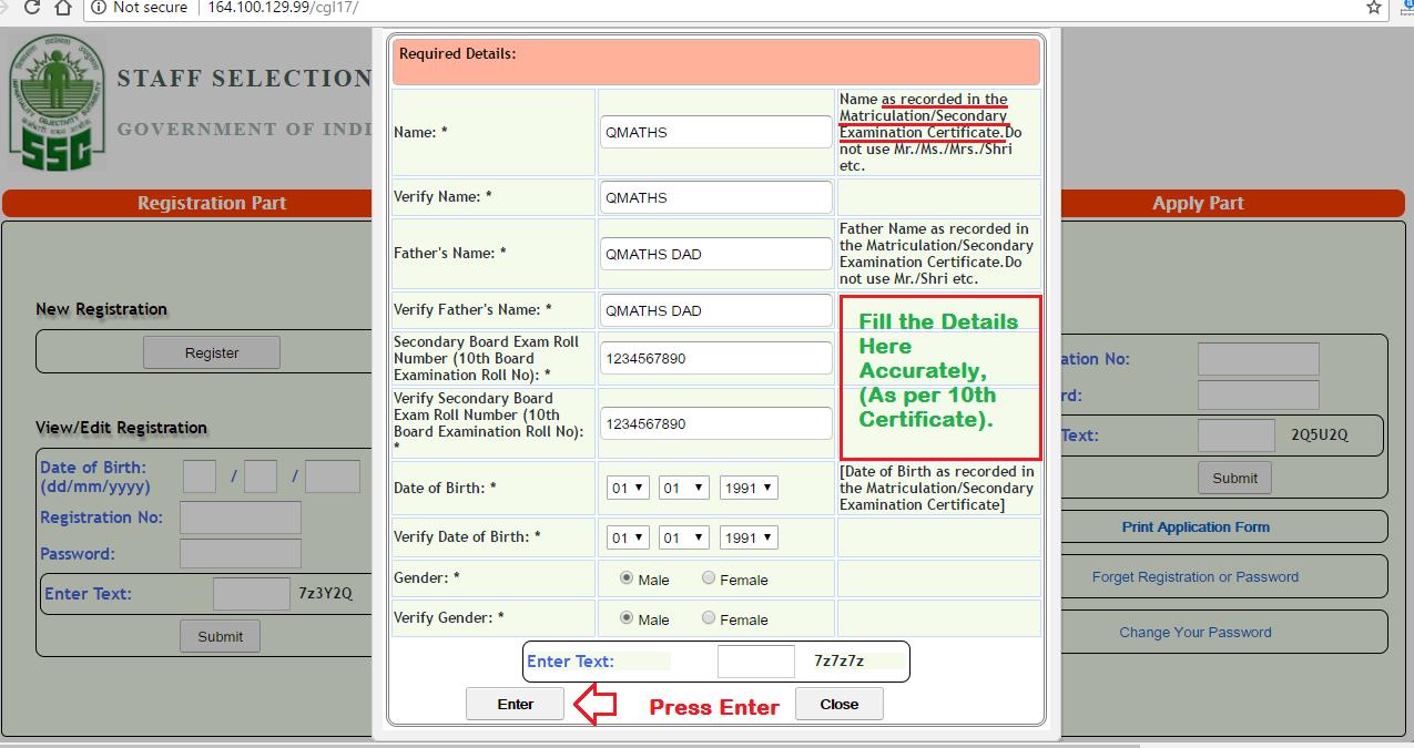 Form pdf application ssc 2015