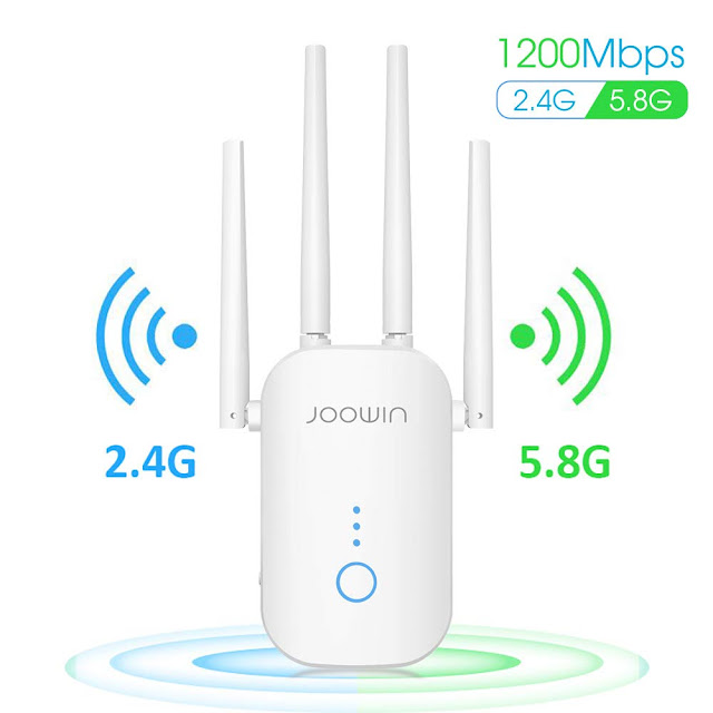 JOOWIN AC1200 WiFi Extender Up to 1200mbps