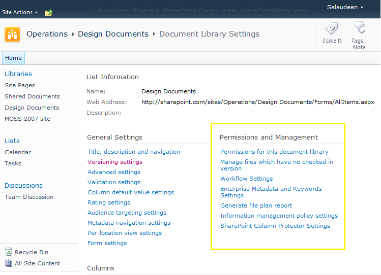 sharepoint 2010 delete this list option missing