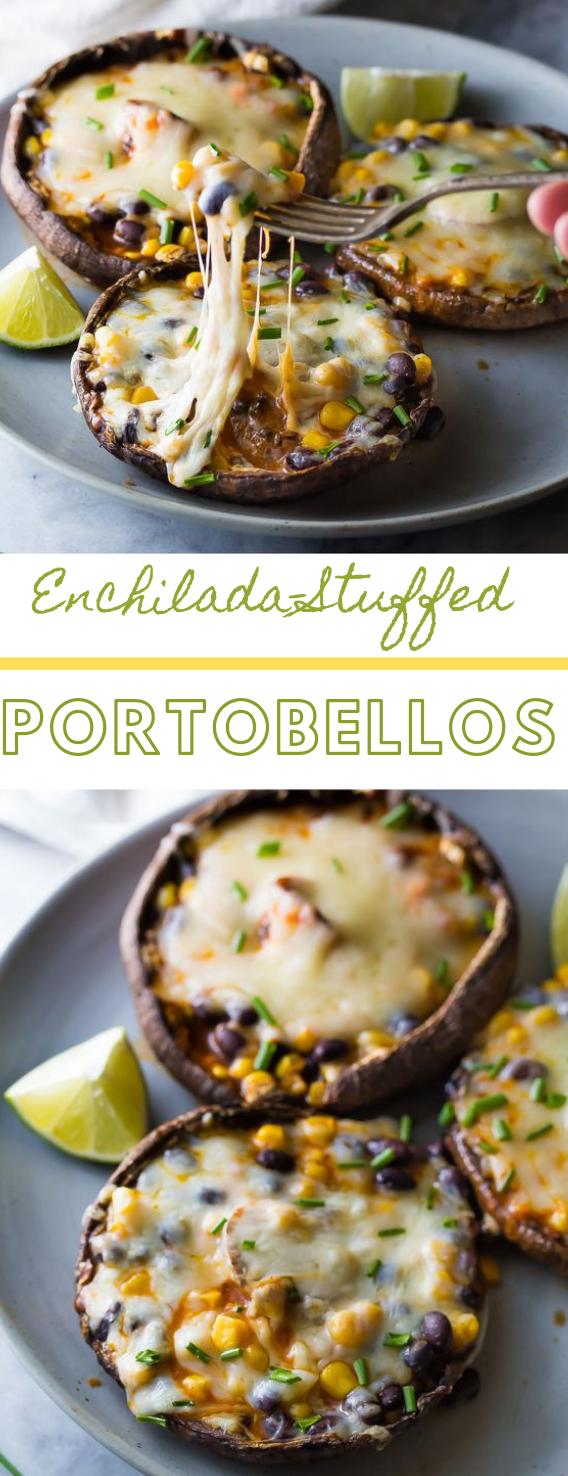 Enchilada Stuffed Grilled Portobello Mushrooms