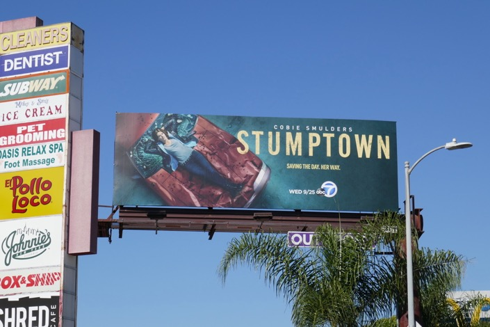 Stumptown TV series billboard