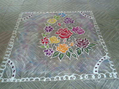 Set of rangolis for new year and sankranti