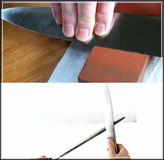 cara mengasah pisau cap garpu