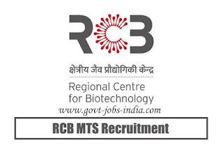 RCB MTS Recruitment 2020