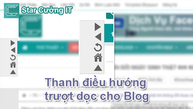 Tạo Thanh Điều Hướng Dọc Cho Blogspot Tuyệt Đẹp