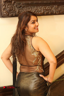 Actress Nikitha Pictures in Saree at Apartment Movie Audio Launch  0074.JPG