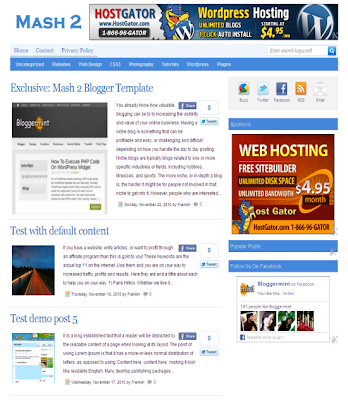 Mashable Blogger Template 2013