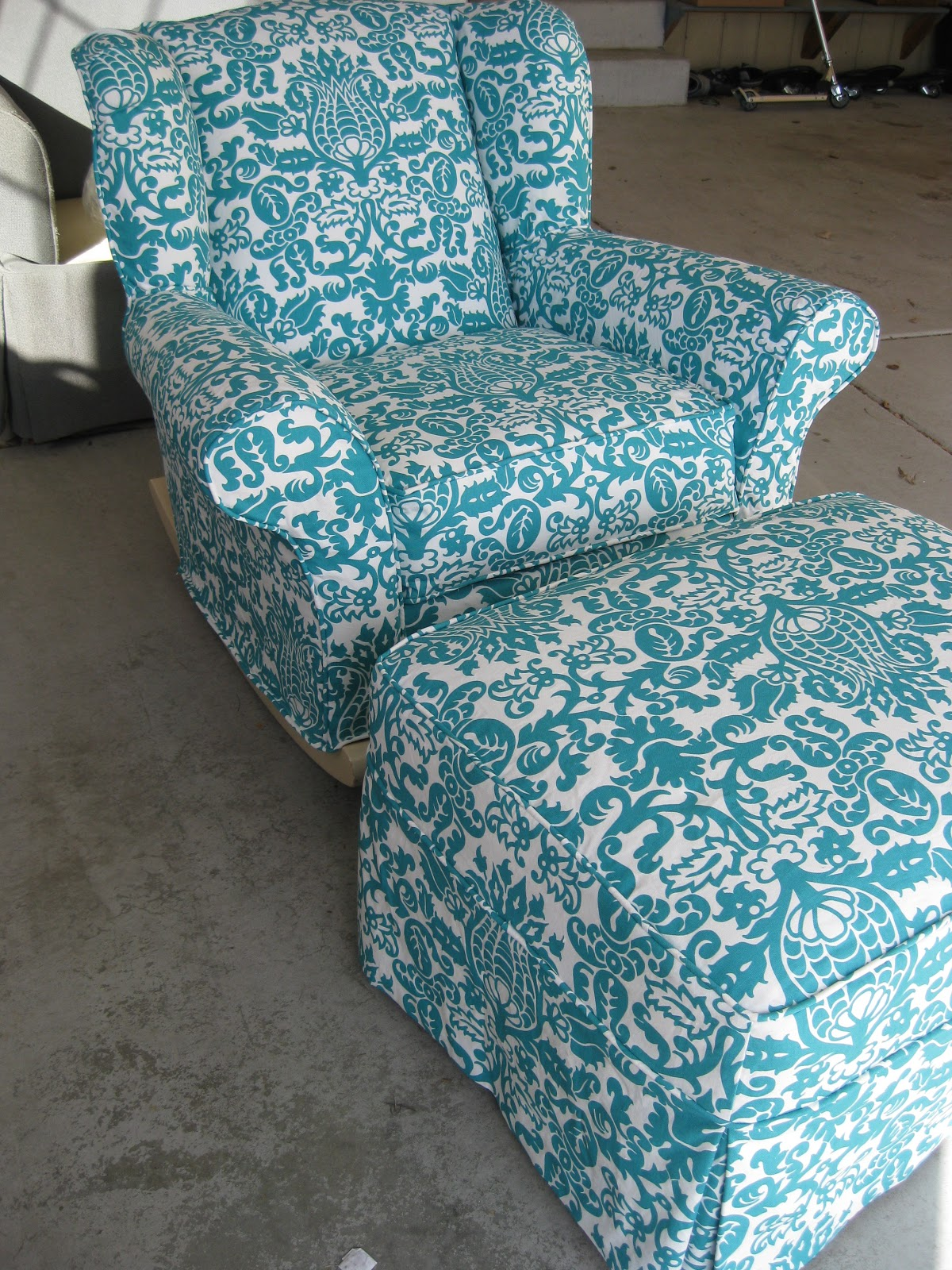 Rocking Chair Slipcovers For Nursery Adams Manufacturing Plastic Adirondack Chairs Custom By Shelley Upholstered