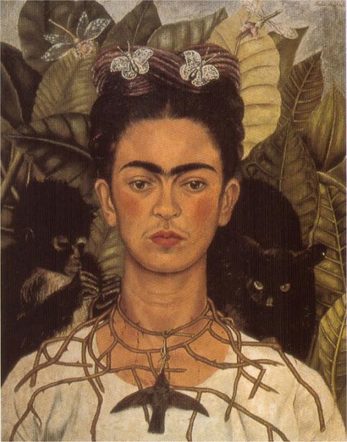 Фрида Кало - Автопортрет с терновым ожерельем. 1940