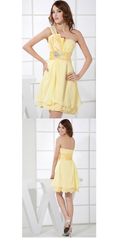 Bridesmaid Dresses - A-line Short Chiffon Sleeveless Vintage Bridesmaid Dresses Nz