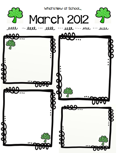 Classroom Freebies Too: Free Frames and March Newsletter